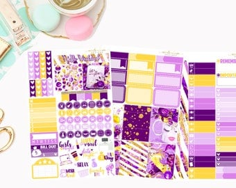 Lets Make Plans Personal Kit, Matte Removable planner stickers