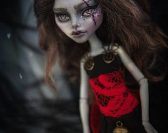 OOAK Monster High Gulia Custom Doll Repaint