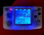 SNK Neo Geo Pocket Backlit-modded Clear with Blue Backlight