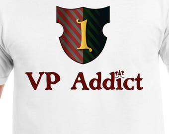 VP (Victory Point) Addict Tshirt | board gamer t-shirts | Dominion & Puerto Rico inspired shirts for BoardGame geeks and tabletop fans