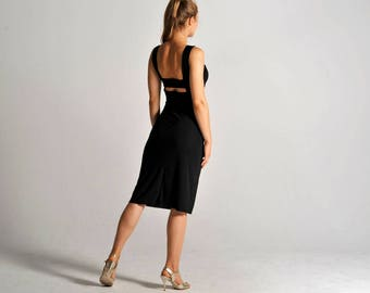OLIVIA black tango dress, XS-M