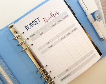 A5 BUDGET planner inserts | printed inserts |  Budget and Finance | Spending and Income tracker | For large Kikki k or Filofax a5 planner