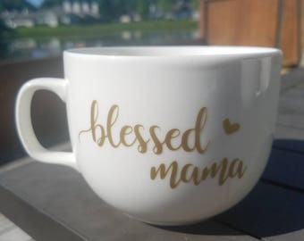Blessed Mama Coffee Cup / Mommy Coffee Cup