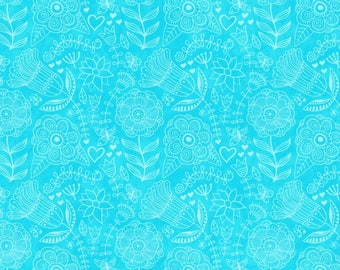 Studio E FLIGHT OF FANCY Quilt Fabric 1/2 Yard By Sharla Fults - Blue 3391 16