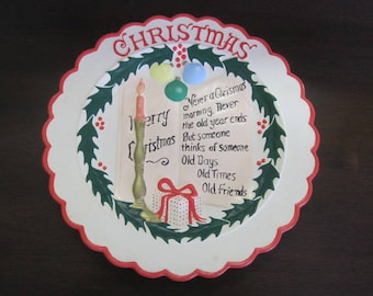 Vintage Christmas plate / Vintage Plate of the parts (holidays)
