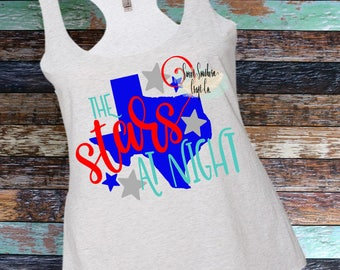 The Stars at Night Texas Pride Adult Tank Top,Ladies Shirt,Woman Tank Top,Racerback,Tank,Texas Proud,Y'all,Yall,Texas Forever,Lone Star