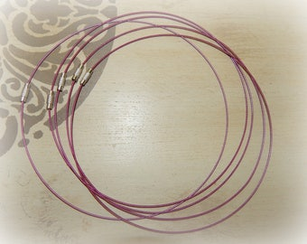 raspberry pink twisted wire 3 twist