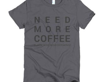 COFFEE Short sleeve women's t-shirt
