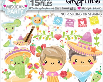 80%OFF - Mexican Clipart, Mexican Graphic, COMMERCIAL USE, Mexican Party, Planner Accessories, Kawaii Clipart, Cinco de Mayo, Mexico Clipart