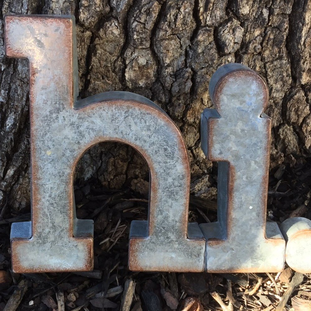 Galvanized Letters For Sale On Salemetal Letterswall Decorgalvanized Metal