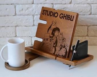 Studio Ghibli art stand Studio Ghibli jewelry holder princess mononoke kodama studio ghibli keychain mononoke mask studio ghibli mug holder