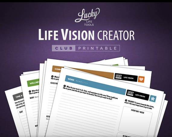 Life Vision Creator - CLUB Printable Exercise