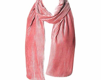 Romantic Blush Pink Pleated Scarf