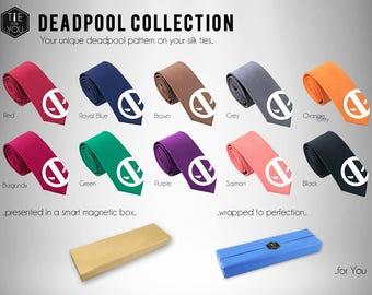 Deadpool Silk Tie - Slim Tie - Wedding Tie, Christmas Gift, Fathers Day Gift, Birthday Gift- FREE UK Shipping!