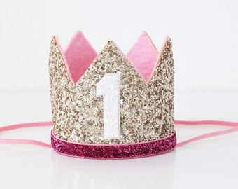 Birthday Crown | Birthday Outfit Girl | Birthday Crown Girl | Gold Birthday Crown | Girl Smash Cake | Girl Crown
