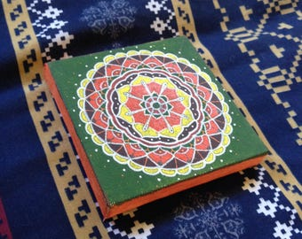 small canvas mandala painting