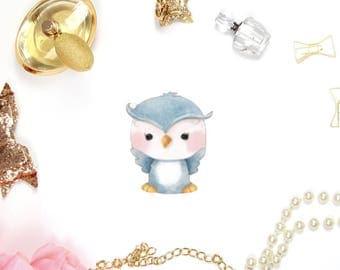 Baby Owl Die Cut and or Die Cut Sticker