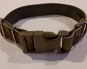 """Multicam Camo Dog Collar Military Spec 1""""  4Paws"""
