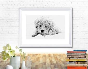 Dog print, dog printable, cute dog, puppy kids room poster, nursery prints, nursery wall prints, nursery printable, nursery wall decor, dog