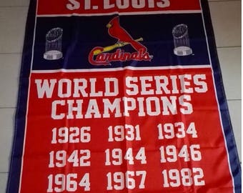 PRE-SEASON SALE 30% Off St Louis Cardinals World Series Banner 3' x 5' Single Sided Banner