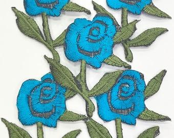 Blue Rose Patch-Rose Patch-Blue Flower Patch-Flower Patch-Blue Patch-Patch