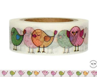Washi Tape BIRDS colorful