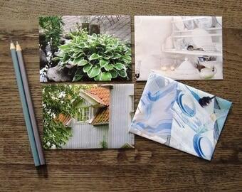 "set of 4 envelopes ""home&living"" Din B7"
