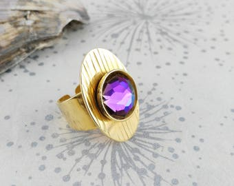 Golden Modernist Ring