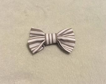 Gray striped bow