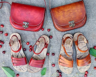 Greek Sandals, Micropore Sandals, Comfortable Strappy Sandals
