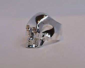 Solid Silver Skull Ring