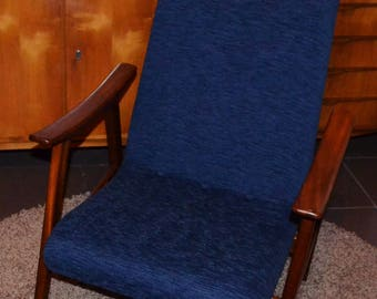 Vintage Lounge Chair 60 years Blue/Braun