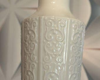 Vintage ceramic vase from KPM 70s white