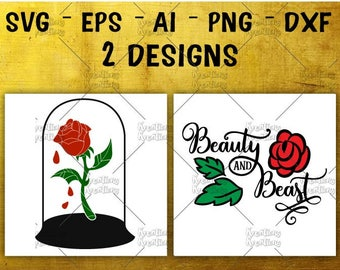 Rose in glass dome SVG beauty and beast SVG red rose svg cuttable cutting file Cricut Silhouette digital Download vector SVG png eps dxf
