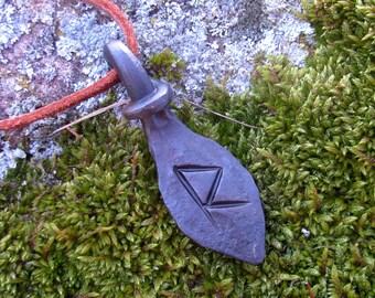 Forged Raidho rune,  Viking pendant, amulet, protection amulet, Nordic Talisman,Necklace talisman