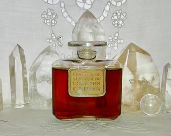 Caron, Pois de Senteur Chez Moi, 65 ml. or 2.2 oz. Flacon , Pure Parfum Extrait, Baccarat, 1927, Paris, France ..