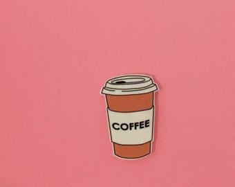 Coffee Pin [brooch lapel pin latte]