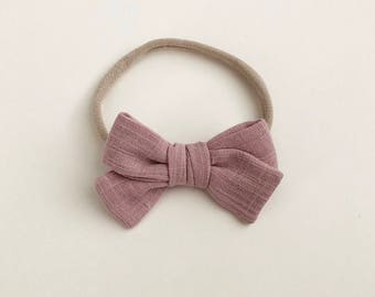 classic bow | blush