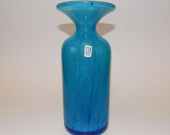 Vintage Mdina Ming Pattern Art Glass Vase