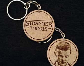 El Eleven Jane Ives Jane Hopper Stranger Things Engraved Wood Keyring Keychain by JayEngrave