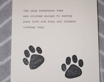 Dog Quote Typed on Typewriter Johnny Depp