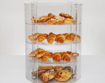 Circular Display Case   Food Display Cabinet   Acrylic Shelving Unit   Retail Display Stand   Premium Perspex Acrylic   Made in the UK