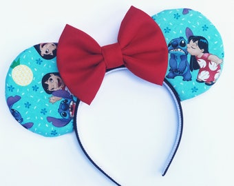 Lilo & Stitch Inspired Mouse Ears