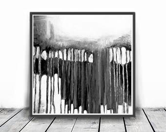 Black and White Abstract Art, Modern Printable Wall Decor, Black & White Painting, Modern Minimal Wall Art, Instant digital download Prints