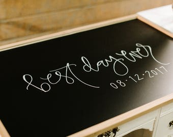 Custom Large Chalkboard, Wedding Guestbook Chalkboard