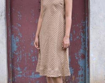Mahe Linen Dress ~ Golden Wheat