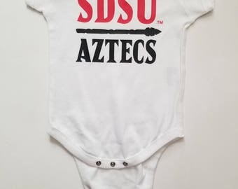 Custom Onesie SDSU® Retro Body SDSU AZTECS® San Diego State University®