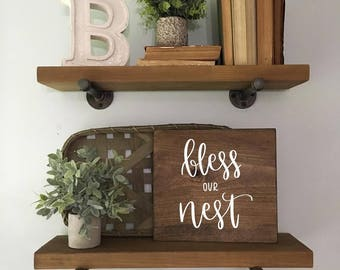 Bless Our Nest - Wood Sign