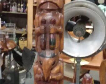 Northwest Coast Indian Model Totem Pole Vintage