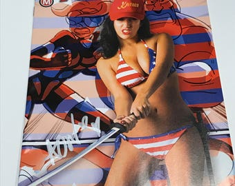 SIGNED! AmeriKarate Issue #4 Limited Edition April O'Neil Photo Cover